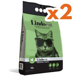 Lindo Cat - LindoCat Hijyenik Topaklaşan Kokusuz Yavru ve Yetişkin İnce Taneli Kedi Kumu 10 Lt X 2 Adet
