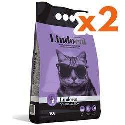 Lindo Cat - LindoCat Hijyenik Topaklaşan Lavantalı İnce Taneli Kedi Kumu 10 Lt X 2 Adet
