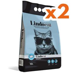 Lindo Cat - LindoCat Hijyenik Topaklaşan Sabunlu Kalın Taneli Kedi Kumu 10 Lt x 2 Adet