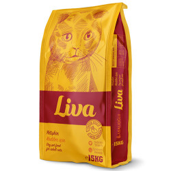 Liva - Liva Chicken Tavuk Etli Yetişkin Kedi Maması 15 Kg
