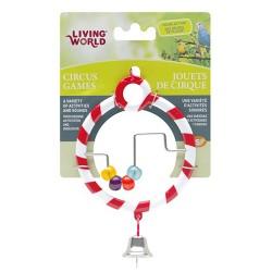 Living World - Living World 80941 Zilli Boncuklu Kırmızı Halka Kuş Oyuncağı
