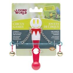 Living World - Living World 80951 Denge Çubuğu Kuş Oyuncağı (Kırmızı / Beyaz)