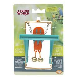 Living World - Living World 80972 Maymunlu Kuş Oyuncağı (Turuncu)