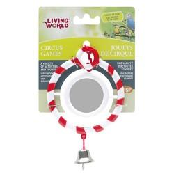 Living World - Living World 80931 Zilli Aynalı Kırmızı Halka Kuş Oyuncağı