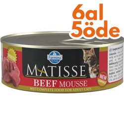 Matisse - Matisse Beef Mousse Biftekli Kedi Konservesi 85 Gr - 6 Al 5 Öde