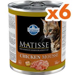 Matisse - Matisse Chicken Mousse Tavuklu Kedi Konservesi 300 Gr x 6 Adet
