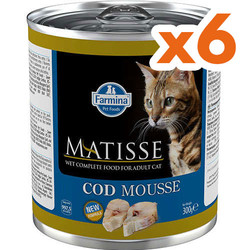 Matisse - Matisse Codfish Mousse Morina Balıklı Kedi Konservesi 300 Gr x 6 Adet
