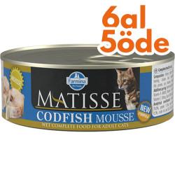 Matisse - Matisse Codfish Mousse Morina Balıklı Kedi Konservesi 85 Gr - 6 Al 5 Öde