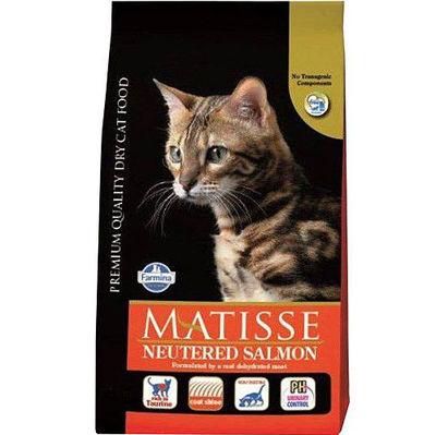 Matisse Kısırlaştırılmış Somonlu Kedi Maması 10 Kg + 10 Adet Temizlik Mendili
