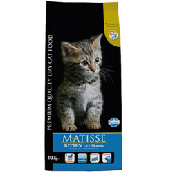 Matisse - Matisse Kitten Tavuk Etli Yavru Kedi Maması 10 Kg + 10 Adet Temizlik Mendili