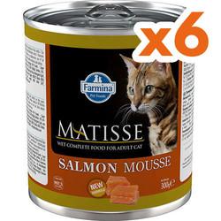 Matisse - Matisse Salmon Mousse Somonlu Kedi Konservesi 300 Gr x 6 Adet
