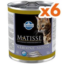 Matisse - Matisse Sardine Mousse Sardalya Balıklı Kedi Konservesi 300 Gr x 6 Adet