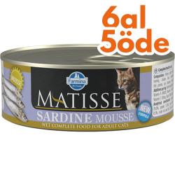 Matisse - Matisse Sardine Mousse Sardalya Balıklı Kedi Konservesi 85 Gr - 6 Al 5 Öde