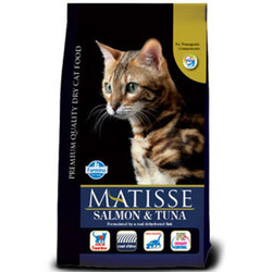 Matisse - Matisse Somon ve Tuna Balıklı Kedi Maması 1,5 Kg + 2 Adet Temizlik Mendili