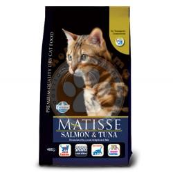 Matisse - Matisse Somonlu ve Tuna Balıklı Kedi Maması 10 Kg+3 Adet 100 Gr Yaş Mama
