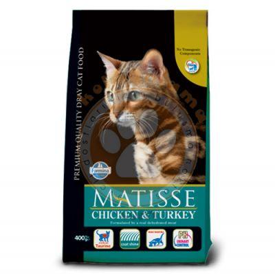 Matisse Tavuk Hindi ve Sebzeli Kedi Maması 10 Kg + 10 Adet Temizlik Mendili
