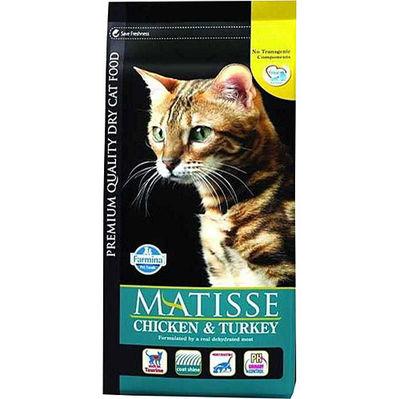 Matisse Tavuk Hindi ve Sebze Kedi Maması 1,5 Kg+5 Adet Temizlik Mendili