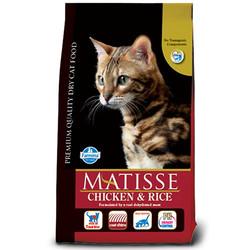 Matisse - Matisse Tavuklu Pirinçli Yetişkin Kedi Maması 10 Kg + 10 Adet Temizlik Mendili