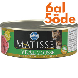 Matisse - Matisse Veal Mousse Dana Etli Kedi Konservesi 85 Gr - 6 Al 5 Öde
