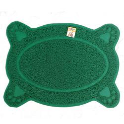 Maxi Life - Maxi Life Tuvalet Kabı Önü Mat Kedi Paspası (Yeşil) 60x45 Cm