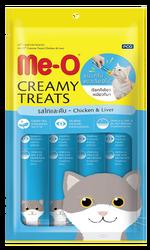 Me-O - Me-O Creamy Treats Tavuklu ve Ciğerli Ek Besin ve Kedi Ödülü 60 Gr (4x15 Gr)