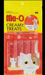 Me-O - Me-O Creamy Treats Somonlu Ek Besin ve Kedi Ödülü 60 Gr ( 4 x 15 Gr )