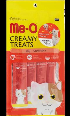Me-O Creamy Treats Somonlu Ek Besin ve Kedi Ödülü 60 Gr ( 4 x 15 Gr )