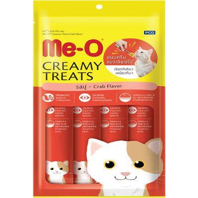 Me-O Creamy Treats Yengeçli ve Tavuklu Ek Besin ve Kedi Ödülü 60 Gr (4x15 Gr)