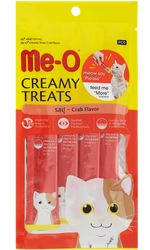 Me-O - Me-O Creamy Treats Somonlu Ek Besin ve Kedi Ödülü 60 Gr (4x15 Gr)