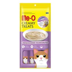 Me-O - Me-O Creamy Treats Deniz Tarağı ve Ton Balıklı Ek Besin ve Kedi Ödülü 60 Gr (4x15 Gr)