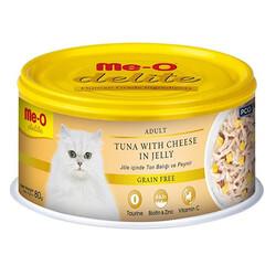 Me-O - Me-O Delite Ton Balıklı ve Peynirli Jelly Tahılsız Kedi Konservesi 80 Gr