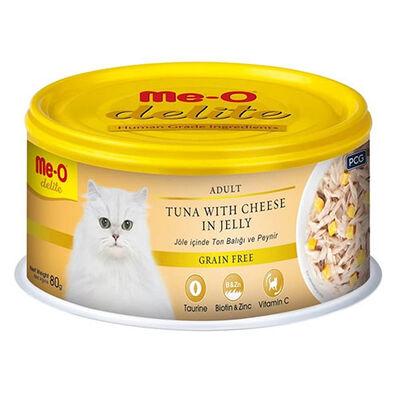 Me-O Delite Ton Balıklı ve Peynirli Jelly Tahılsız Kedi Konservesi 80 Gr