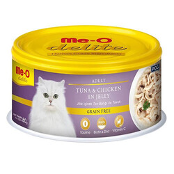 Me-O - Me-O Delite Ton Balıklı ve Tavuk Etli Jelly Tahılsız Kedi Konservesi 80 Gr