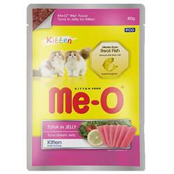 Me-O - Me-O Kitten Ton Balıklı ve Jöleli Yaş Yavru Kedi Maması 80 Gr