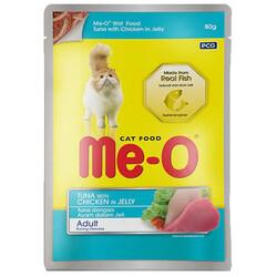 Me-O - Me-O Ton Balığı ve Tavuklu Jöleli Yaş Kedi Maması 80 Gr