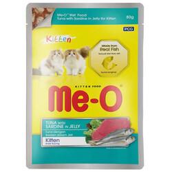 Me-O - Me-O Kitten Ton Balığı ve Sardalya Jöleli Yavru Yaş Kedi Maması 80 Gr