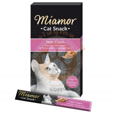 Miamor Cream Malt Mayası Tamamlayıcı Ek Besin ve Kedi Ödülü 6x15 Gr
