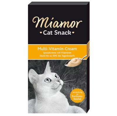 Miamor Cream Multi - Vitamin Tamamlayıcı Ek Besin ve Kedi Ödülü 6 x 15 Gr