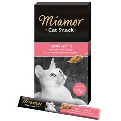 Miamor - Miamor Lachs - Cream Somonlu Tamamlayıcı Ek Besin Kedi Ödülü 6 x 15 Gr