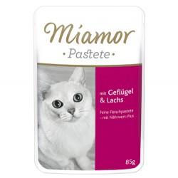 Miamor - Miamor Pastete Pouch Kümes Hayvanı Somon Kedi Maması 85 Gr