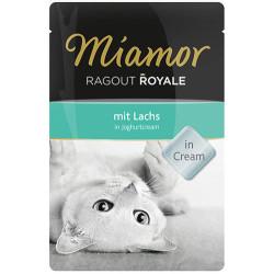 Miamor - Miamor Ragout in Cream Yoğut Kremalı Somonlu Pouch Kedi Maması 100 Gr