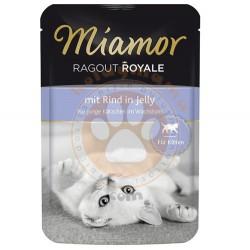 Miamor - Miamor Ragout Rind in Jelly Kırmızı Etli Pouch Yavru Kedi Maması 100 Gr