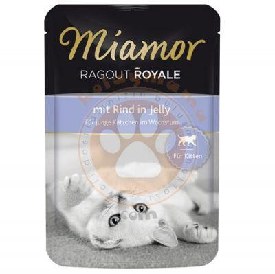 Miamor Ragout Rind in Jelly Kırmızı Etli Pouch Yavru Kedi Maması 100 Gr