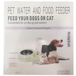 Diğer / Other - Mier Pet 2in1 Kedi ve Küçük ve Orta Irk Köpek Mama ve Su Rezerv Kabı