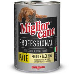 Miglior Cane - Miglior Cane Pate Tavuk Eti ve Hindi Köpek Konservesi 400 Gr