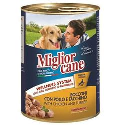 Miglior Cane - Miglior Cane Pate Tavuk ve Hindi Etli Köpek Konservesi 405 Gr
