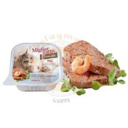 Miglior Gatto - Miglior Gatto Kısırlaştırılmış Balık ve Karides Kedi Yaş Maması 100 Gr