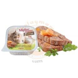 Miglior Gatto - Miglior Gatto Kısırlaştırılmış Tavuk, Kuzu ve Sebze Kedi Yaş Maması 100 Gr