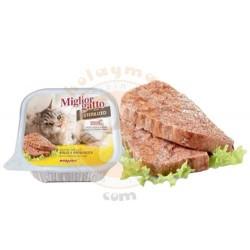 Miglior Gatto - Miglior Gatto Kısırlaştırılmış Tavuk ve Jambon Kedi Yaş Maması 100 Gr