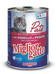 Miglior Gatto - Miglior Gatto Pate Kuzu ve Ciğerli Kedi Konservesi 400 Gr